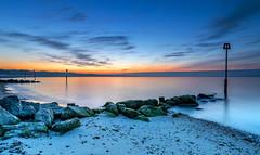 Avon Beach Dawn (nicklucas2) Tags: seascape beach groyne pebble sand sea seaside solent dawn avonbeach