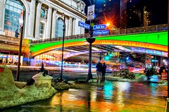 The Park Avenue viaduct illuminated in Green n Orange last night in honor of #StPatricksDay  #NewYorkCity (mitzgami) Tags: unitedstates lazyshutter bridge gothamcity grandcentralterminal travel nyc pershingsquareplaza inexplore flickr manhattan nightphotography d7000 nikon nikonphotography longexposure newyorkcity parkavenueviaduct stpatricksday