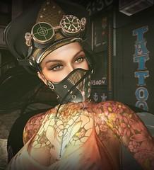 Portrait (lndya and Leeaker) Tags: lfe cap mask carolg instinct tattoo shinyshabby supernatural necklace