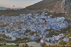 Overlooking Chefchaouen Medina (adventurousness) Tags: bluecity chefchaouenthebluepearl thebluecity blue chaouen chefchaouen city cityscape hdr morocco overlook travel medina town
