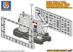 BACTA DECO IMAGE (baronsat) Tags: lego star wars esb hoth rebel base bacta tank chamber luke rejuvenation instructions kenner vintage 80s new toys