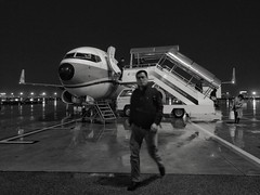 Raining in Shanghai, one day business trip is finished (Alfred Life) Tags: aircraft airplane plane 飛機 summarith12227 summarit leicaduallenses 徠卡 asph 华为 華為 leica huawei plus p9 huaweip9plus blackandwhite bw 黑白照片