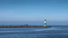 Warnemünde Bay (horge) Tags: balticsea warnemünde ostsee blue lighthouse