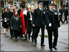 Pomp and ceremony (* RICHARD M (Over 6 million views)) Tags: street candid southport sefton merseyside remembrancesunday remembranceday 11thnovember remembrance uniforms mayor mayoralrobes mayoralchainsofoffice police policemen policeofficers cops bobbies britishbobbies mayoress councillors seftoncouncillors localpoliticians politicos localpoliticos marching marches marchers policeuniforms medals mayoralmace seftoncouncil merseysidepolice tricornhat bowlerhat peakcaps peakedcaps shinyshoes polishedshoes poppies mayorandmayoress localcouncillors mbs metropolitanboroughofsefton lestweforget wewillrememberthem sombre wetpavement puddles november wetweather rainyday macebearer pomp england unitedkingdom uk greatbritain gb britain britishisles bulldogbreed councilloriainbrodiebrown nicolabrodybrown councillorsuemcguire lordfearn baronfearn ronniefearn liberaldemocratcouncillors seftonmetropolitanborough