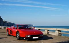 Ferrari Testarossa (Bould'Oche) Tags: ferrari voiture worldcars car wagen rouge red sony alpha 58 sea mer ciel blue sky thomas maheut photographies amateur france français