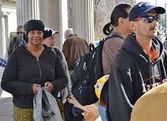 "Waiting in line for a free lunch being served by volunteers from ""Love Lunches"" & ""Set Free"" Churches in Denver. (desrowVISUALS.com) Tags: economics economy poverty poorpeople austerity economiccrisis poor"