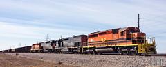 2014-02-22 Yankeetown IN ISRR3382 SD40-2 (ex-BN7244) (gravelydude1966) Tags: emd sd402 isrr indianasouthern gw geneseeandwyoming isrr3382 yankeetown indiana tpw sd45t2 tunnelmotor coal coaltrain sp espee speedlettering kyle