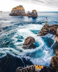Hypnotic Ocean (ThibaultPoriel) Tags: finistere capsizun seascape wave longexposure olympus sea ocean bretagne coast rocks spring colors landscape exploration outdoors spiral hypnotic