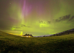 *** (Fevzi DINTAS) Tags: aurora northernlights sky travel colors tourism holiday visit places destinations attractions adventure amazing moment nature landscape iceland europe season outdoor space universe stars planet galaxy solarwaves paza140 nationalgeographic vik night afterdark