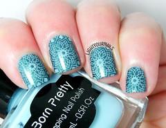 Kaleidoscope nails (Simona - www.lightyournails.com) Tags: bornprettystore bps holographic turquoise blue stamping esmalte smalto unghie manicure vernis nails nailpolish nagellack naillacquer nailart nailstamping femmefatale