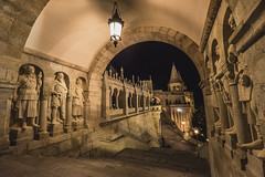 Fisherman's Bastion - Budapest (riggeri) Tags: budapest hungary fishermans bastion sony a7 zeiss 1635 night building