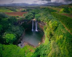 WAILUA FALLS (Chris Arace) Tags: red drone dji mavic pro air sky waterfall kauai clouds landscape portfolio pool nature hike outdoors travel adventure