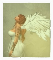 Angel (Montana Magnifico) Tags: artistic wings soft polaroid vintage sl redhead ginger ink sensual