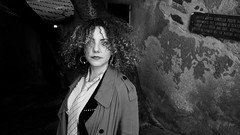 . (Mario M.) Tags: woman portrait bw bnw bn ale cefalu architecture lavatoiomedievale