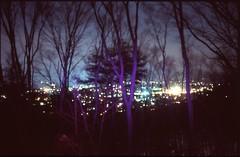 (✞bens▲n) Tags: pentax lx fa 35mm f2 film slide velvia 100 japan nagano night longexposure nightscape trees purple light dark