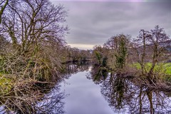 downriver (GarethBell) Tags: wales betwsycoed betws conwy canon canon6d 6d 35mm hdr river still reflection shiny trees clouds sky flowing flow banks bank wide