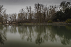 Canal Invernal (ponzoñosa) Tags: canal castilla castillayleón barco navegable ingenieria invierno paisaje landscape reflejo reflction agua water mirror