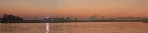 Sunrise over Everbank Field, Jacksonville, FL