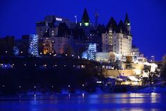 Le Blue (Photolove2017) Tags: bluehour blue tourism lights chateau river frozen canada ottawa ontario ottawagatineau photolove2017 tiaphoto nikondx interprovincial icy d7100 downtown