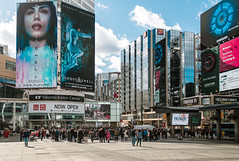 Dundas Square (Jackx001) Tags: 2017 april1st canada city downtown jacknobre ontario sunyday toronto walk outside people ghost shell ghostintheshell dundassquare colors