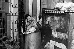 His Own Private Spot (anthonypond) Tags: 50mmsummilux bw leicam9 calcutta india