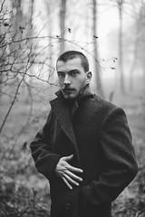 Shaka (Chalo Photography) Tags: male man boy guy handsome blueeyes blond georgia georgian tbilisi wood forest fog