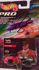 #13-7, Todd Bodine, Signing, #13-7, Hot Wheels, 1998, Pro Racing, 1st Edition, NASCAR, #35, Tabasco, Red, BP (Picture Proof Autographs) Tags: 137 toddbodine signing hotwheels 1998 proracing 1stedition nascar 35 tabasco red bp withpictureproofphoto ppp