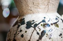 Raku Pot (Karen McQuilkin) Tags: madebyme raku handbuilt clay glaze