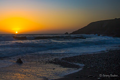 Coaster (JKmedia) Tags: lizard cornwall boultonphotography 2017 canon sunset wave waves coast beach church cove sun orange yellow nature offset splash