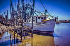 Shrimpboats (MichaelSOwens) Tags: hdr darien georgia docks shrimpboats altamaha river south eastern united states topaz darienriver simplify clean painting usa anchor nets marsh