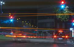 Back Light Sparkle, Toulouse City Centre, France K__32148 (Mike07922, 3.3 Million+ Views - thanks guys) Tags: toulouse france night city urban pupblicspace light street lightstream streetlight cars buses pentaxk3