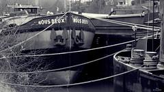 Nous deux (Un jour en France) Tags: janville péniche rivière oise picardie