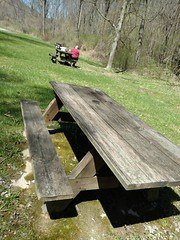 JUST FINISHING UP OUR PICNIC LUNCH (Visual Images1) Tags: hbm benchmonday picnic