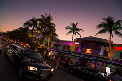 Miami Beach clubs at Sunset (gc232) Tags: usa florida united states america miami samyang 20mm f18 2018 18 ultra wide angle lens canon 6d