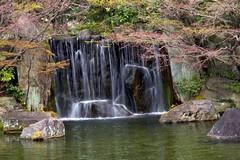 Fall and Garden (tez-guitar) Tags: garden spring castle park himeji pentax pentaxart water waterfall reflection reflections japan japanese