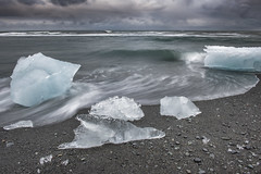 Jokulsarlon Beach, iceland (angie_1964) Tags: jokulsarlon beach iceland ice ocean sea sky water nature landscape seascape clouds explore