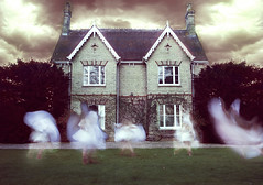 fairys in the garden (loren amie) Tags: old house inspiration clouds jump bush spin ghost lawn victorian creepy spooky fairy leap brookeshaden