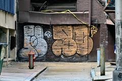 Silver & Gold (damonabnormal) Tags: street city urban graffiti nikon centercity tag tags tagged pa philly graff aerosol phl throw philadephia urbanphotography tagz urbanite the215 d7000