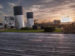 3 layer HDR Holland-Amerikakade, Rotterdam (larsmarsrotterdam) Tags: city sunset canon eos high zonsondergang rotterdam dynamic erasmus kade range kopvanzuid hdr stad erasmusbrug zuid 600d hollandamerikakade