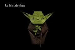 Jedi Master Yoda by Fumiaki Kawahata. (SweeP_64) Tags: paper origami yoda master jedi papier folding pliage kawahata fumiaki
