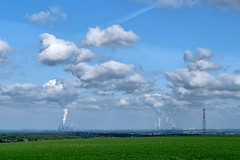 No Wind (lincoln_eye) Tags: uk greatbritain england field grass clouds countryside spring europe unitedkingdom may eu sunny bluesky steam lincolnshire gb crops mast chimneys powerstations telecoms coolingtowers 2014 bracebridgeheath watervapour