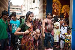 Dondi Rituals ( ) | Kolkata (@k@sh) Tags: road india water 35mm canon fire area 5d ritual tradition vote hindu kolkata 1740 dondi dandi akash mark2 kalighat sitala