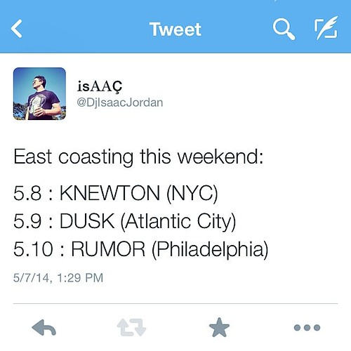 GIGS #eastcoast @duskcomplex @rumorphilly #knewton #nyc #atlanticcity #philadelphia #newyork #newjersey #pennsylvania