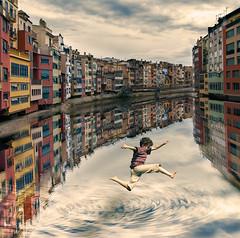 Gerona (- GD photography -) Tags: españa río river jump europa girona salto vacaciones cataluña gerona