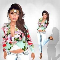 AURORA - Mint Kimono Jacket (Aurora Winter) Tags: summer fashion spring secondlife aurora kimono secondlifefashion