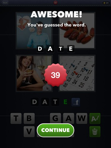 4 Pics 1 Word Level Completed: screenshots, UI