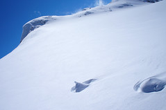 Unspoilt snow atop Rüfikopf (Lech)
