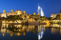 Dubai, Madinat Jumeirah with Burj al Arab (Frans.Sellies) Tags: night dubai uae clear emirates unitedarabemirates  img1152