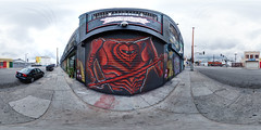 Card Guard (@TanjaB) Tags: streetart graffiti urbanart dtla aliceinwonderland graffitiart skidrow downtownlosangeles muralart equirectangular lewiscaroll