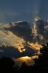Sunset (KsCattails) Tags: sunset clouds evening spring kansas overlandparkarboretum